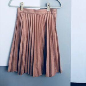 Zara Women pleated bonk midi skirt